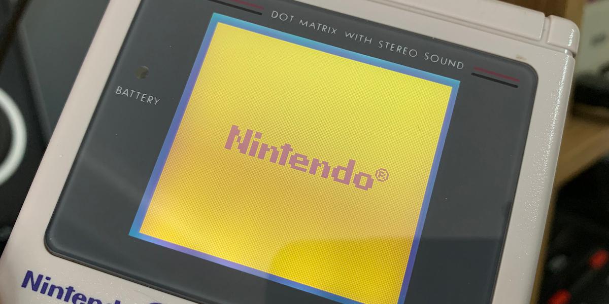 Game Boy Splash Screen with Nintendo Logo