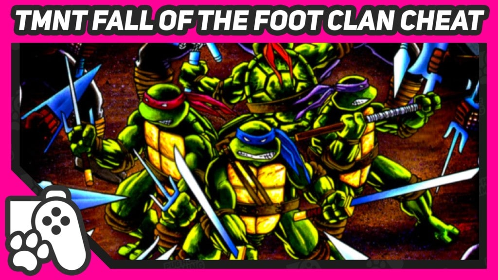 tmnt fall of the foot clan konami code