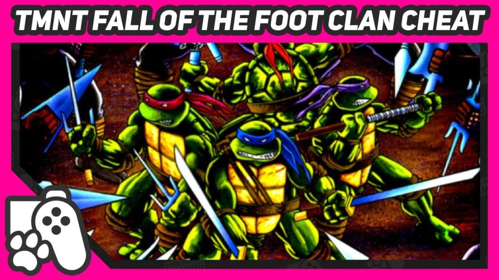 tmnt fall of the foot clan konami code