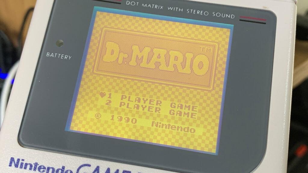 Dr Mario Nintendo GameBoy Title Screen