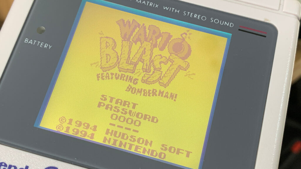 Game Boy Games Wario Blast Nintendo Hudson Soft Title Screen