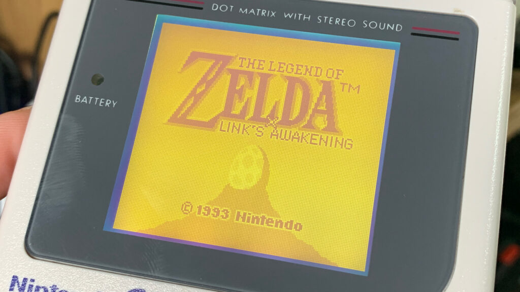 Links Awakening Game Boy Games Legend of Zelda GameBoy Nintendo Title Screen