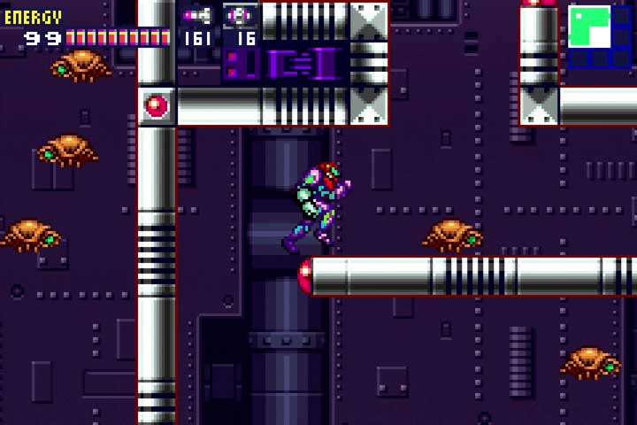 Metroid Fusion GBA Review Gameplay