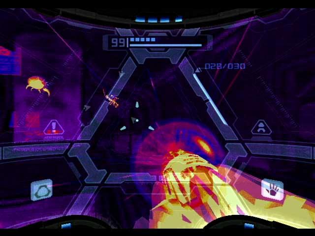 Metroid Prime Thermal Visor Gameplay