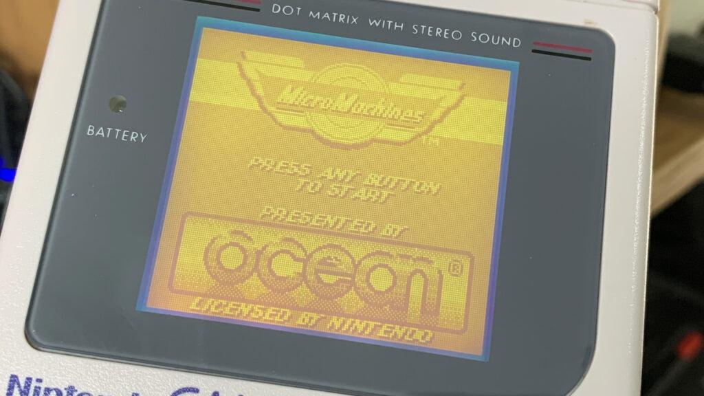 Micro Machines Game Boy Games Title Screen Ocean Nintendo