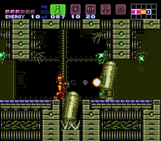 Super Metroid Review Wrecked Ship Gameplay