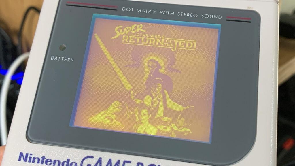 Super Return of the Jedi GameBoy Games Title Screen