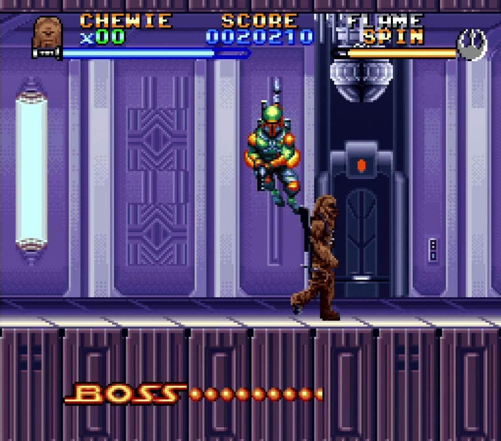 Chewbacca Fighting Boba Fett on Bespin