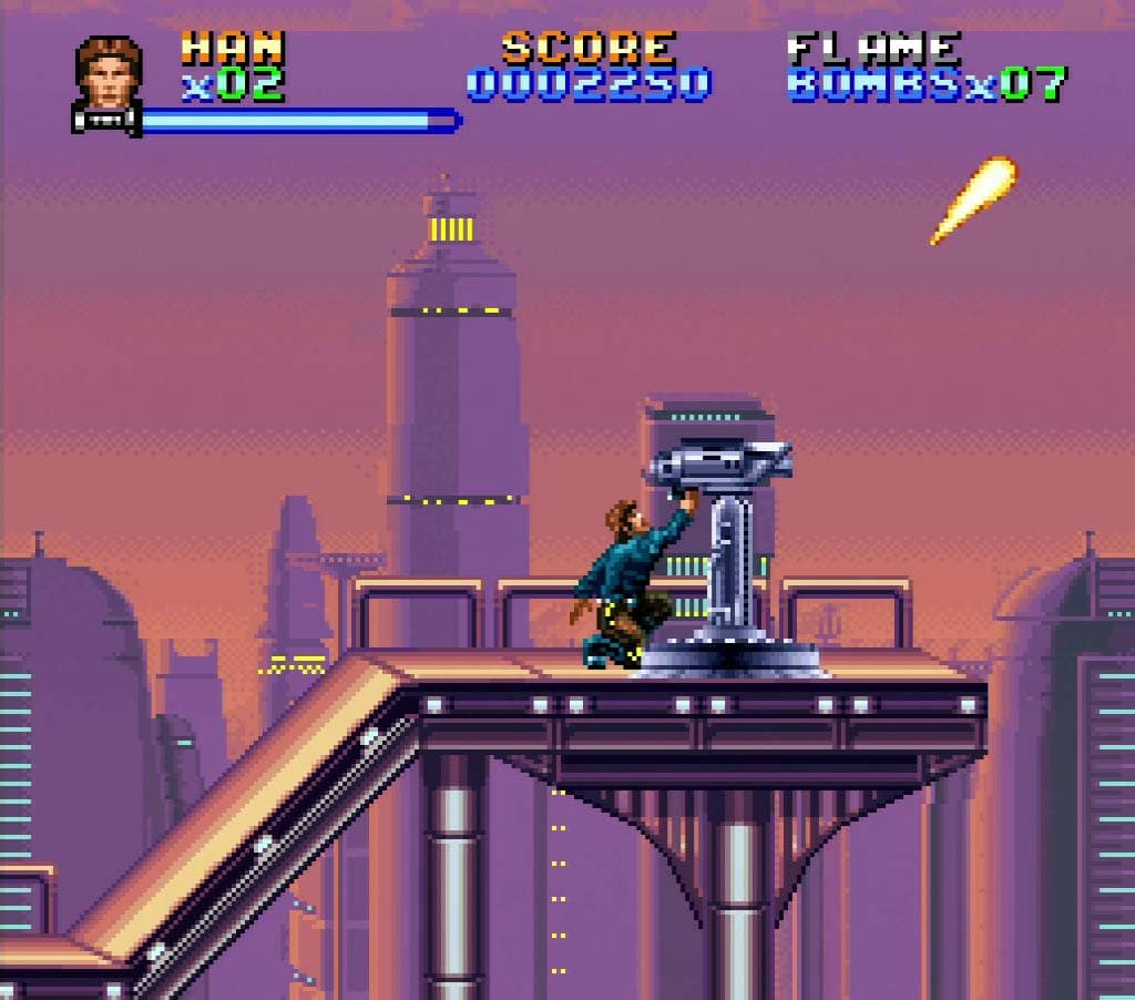 Han Solo on Bespin in the SNES version of The Empire Strikes Back