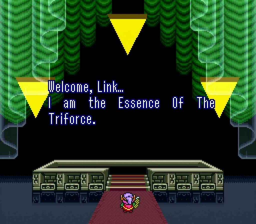 A Link To The Past Ending SNES