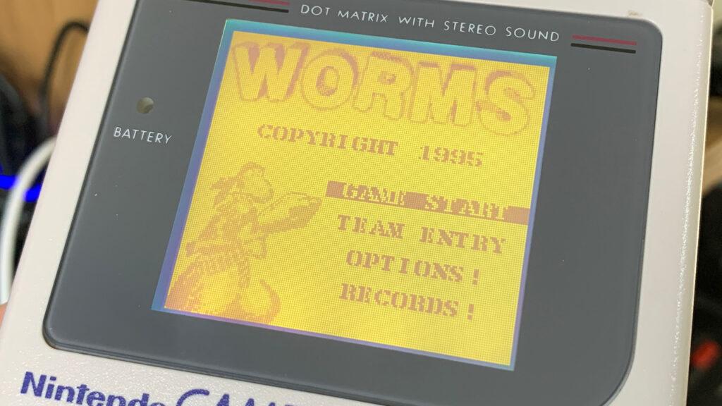 Worms Game Boy Title Screen Nintendo Ocean Games