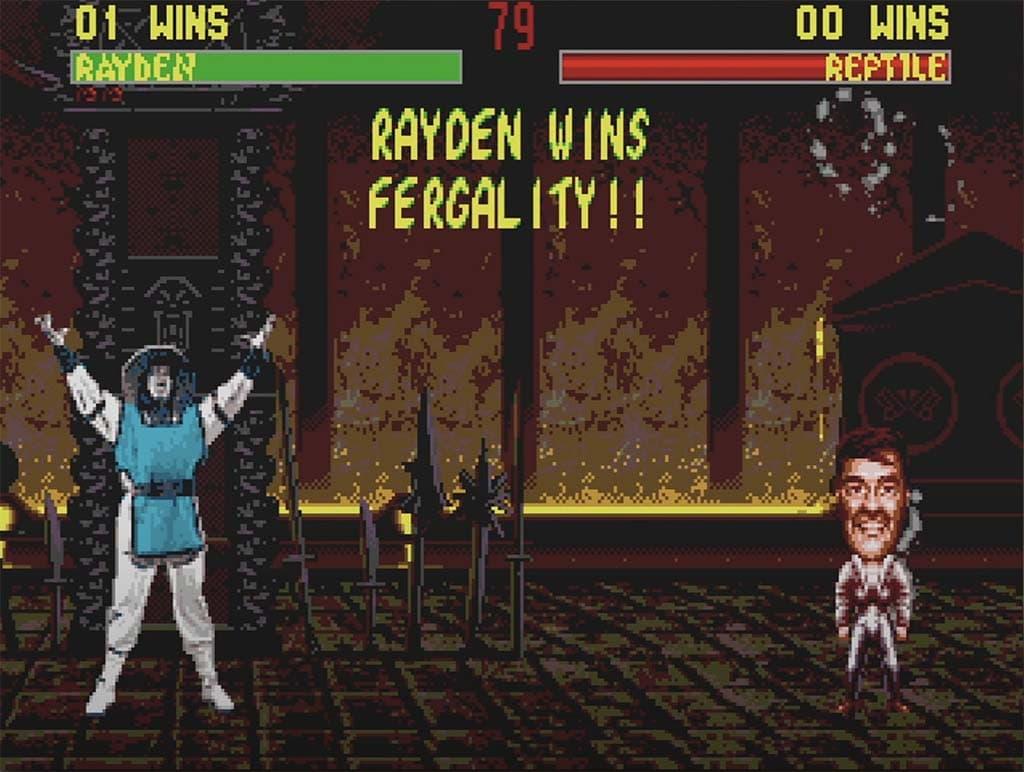 A screenshot of the Mortal Kombat 2 Fergality finishing move