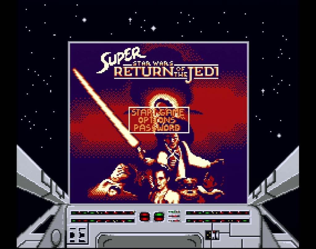 Super Star Wars Return of The Jedi Review Title Screen Screenshot