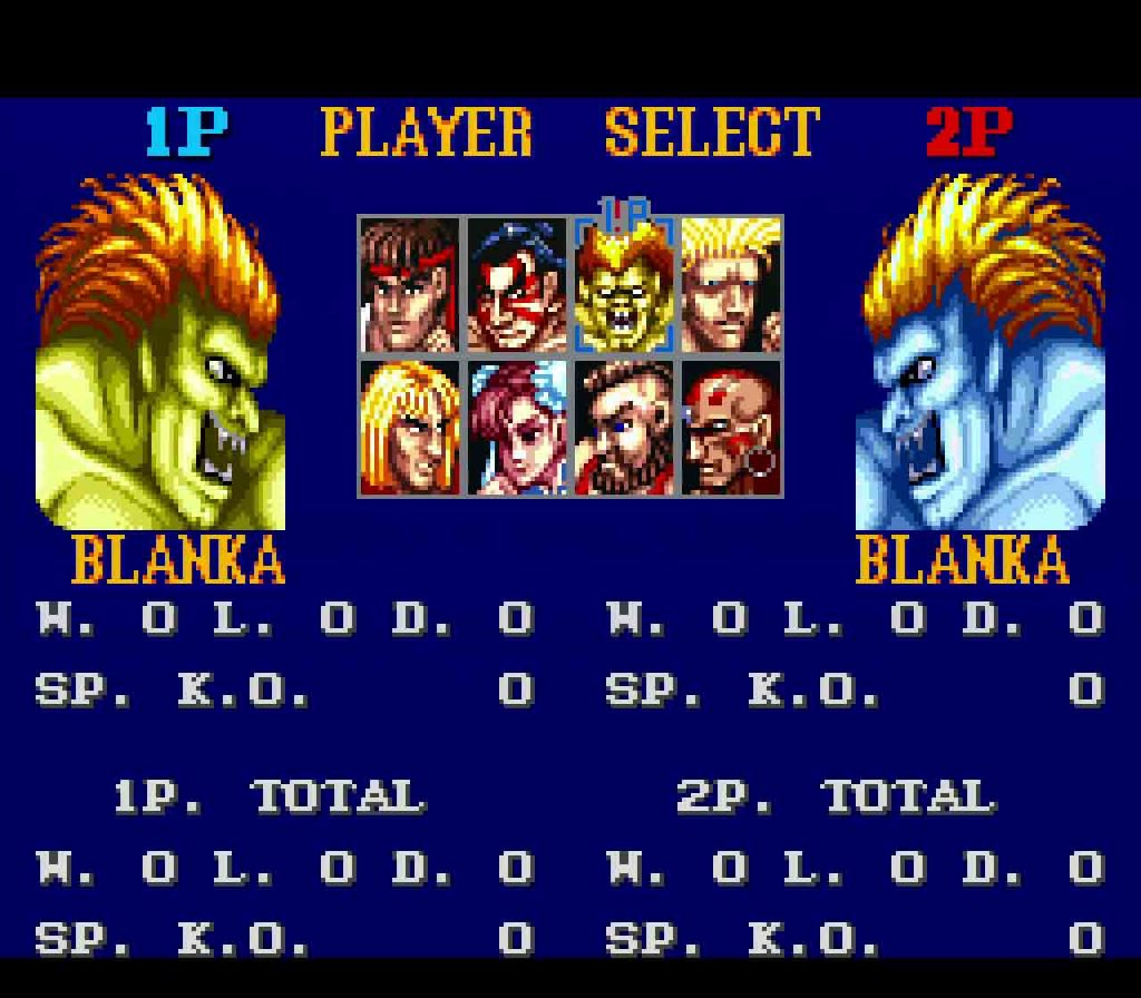 street fighter ii pick the same character