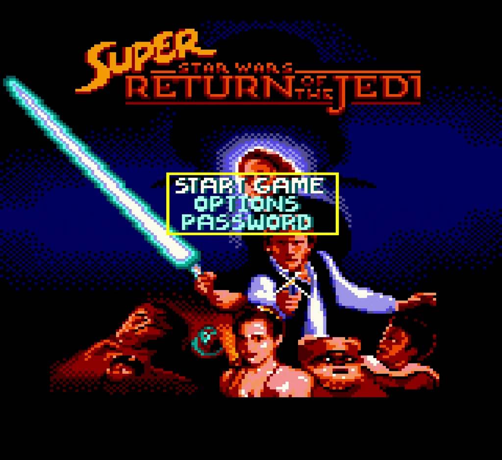 Super Return of The Jedi Game Gear Title Screen